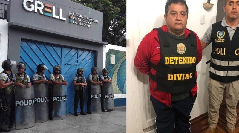 En Trujillo detienen a funcionarios que habrían otorgado títulos falsos a cambio de fuertes sumas de dinero.