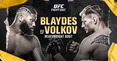 UFC Fight Night: Curtis Blaydes vs Alexander Volkov