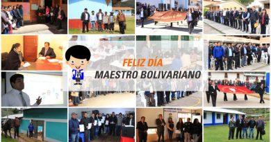UGEL Bolívar destaca el reconocimiento al maestro bolivariano